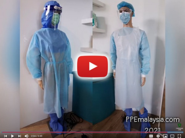 3ply mask, head cover, coverall suit, face shield